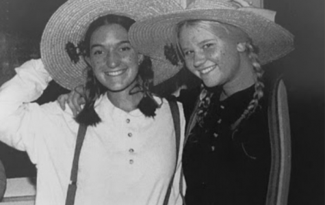 Mary Alice Orrin (Finn) with Patty George dressed up for Sadie Hawkins (1997).