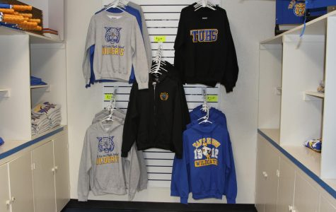 Some of the items available at the Student Store include sweatshirs, t-shirts, hats, and many others.