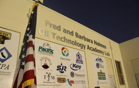 The newly dedicated sign to Fred and Barbara Holmes.