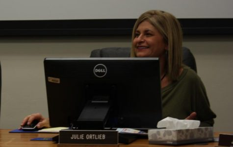 Julie Ortlieb listening to a presentation at one of the meetings