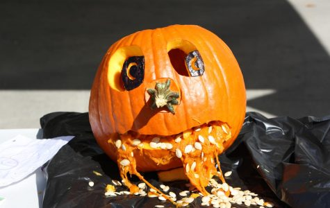 One of the pumpkins carved at the contest