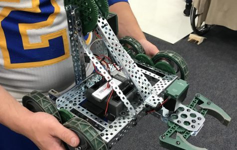 One of the robots built in the class