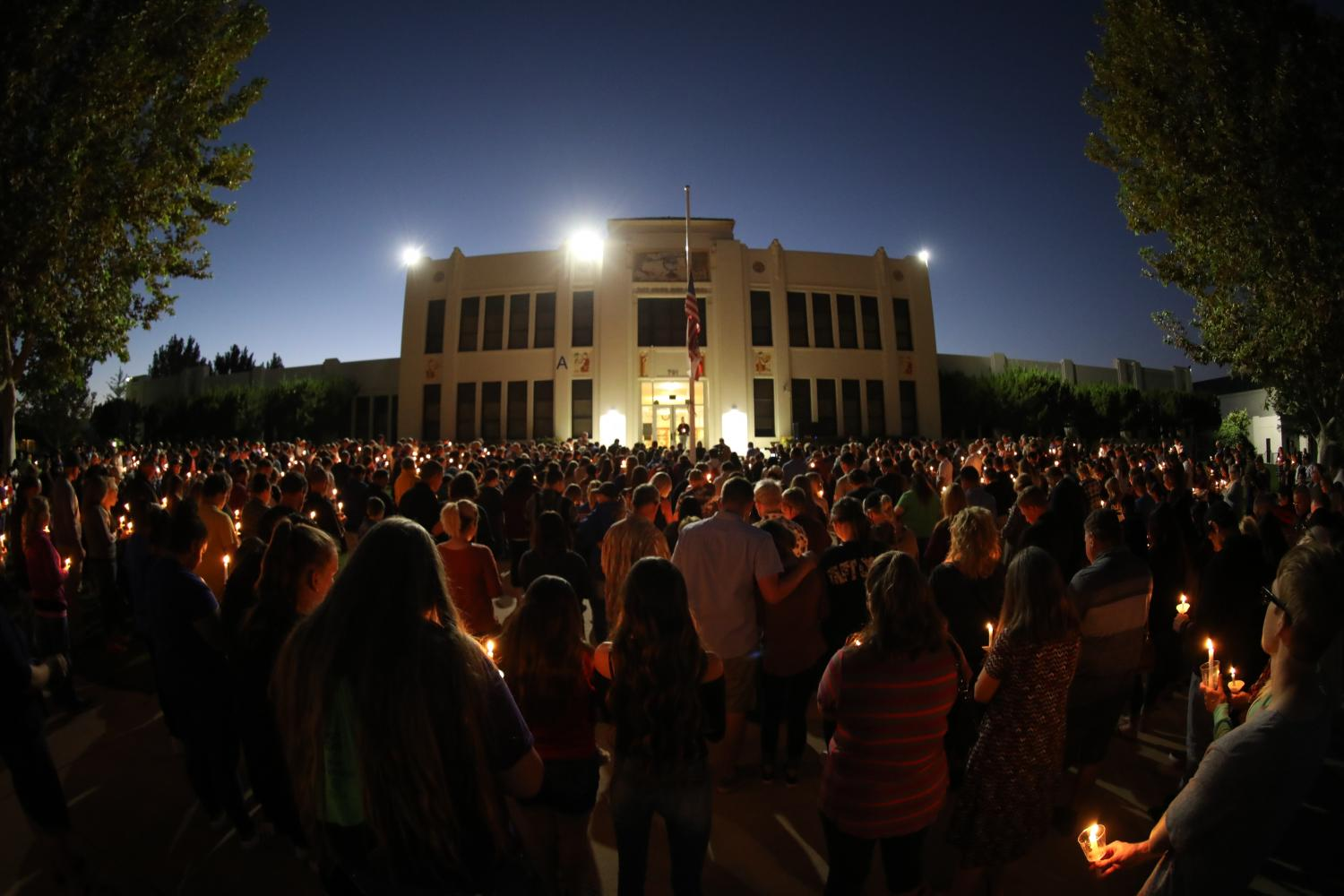 A large crowd of students, staff, and community members joined in remembrance of Kelsey Meadows on Wednesday night.