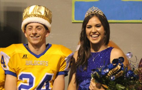 Zach Self and Sarah Lopez as Homecoming King and Queen