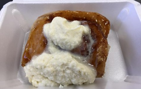 Cinnamon roll made in the Wildcat Cafe
