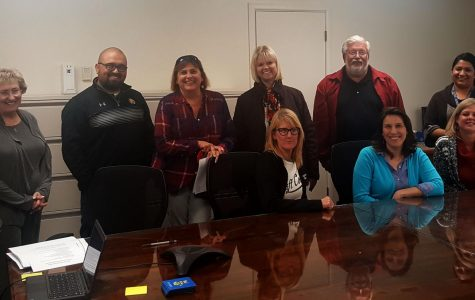 Members Mary Alice Finn, James Hooker, Monica Toro, Sandy Mittelsteadt, Eric Gonzales, Sara Burrell, Stacey Stansberry, Leigh Golling, and Patti Moon gathered in Conference Room #1 for the November meeting.