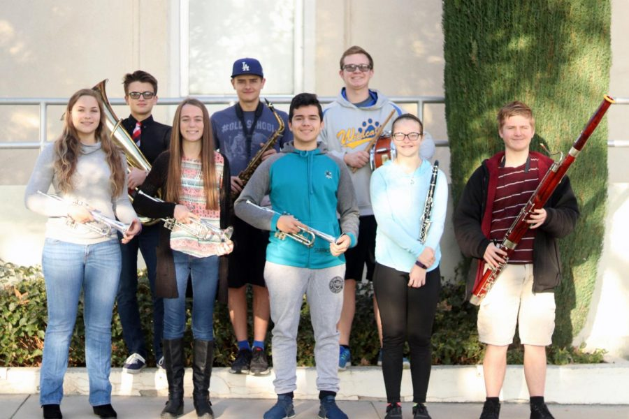 Honor+Band+and+Orchestra+participants+Ricky+Posey%2C+Dennis+Posey%2C+Tanner+Ashmore%2C+Taylor+Reed%2C+Kylie+Campbell%2C+Luis+Moncada%2C+Raygan+Wescott%2C+and+Nathaniel+Morris