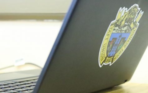 Taft High laptop used by a student in class