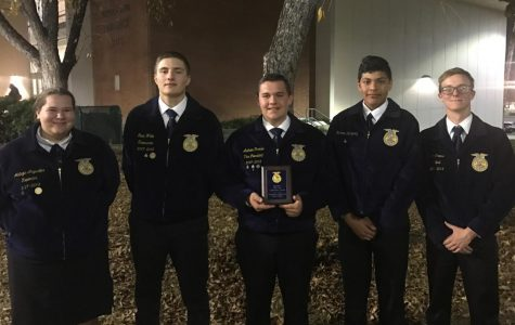FFA members Mataya Arguelles, Gavin White, Andrew Parker, Roberto Rodriguez, and Alex Cross