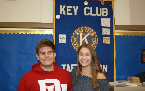 Clayton Hamblin and Hallie Terrazas, Key Club President and Vice President presiding over the meeting last week.