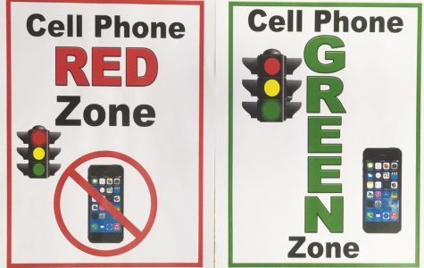 Red and Green-Zone signs that have been posted in each classroom and office on campus