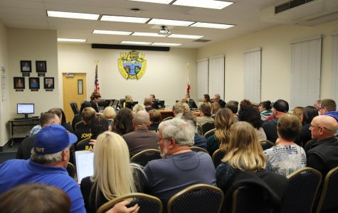 The board room packed with concerned teachers, staff members, parents, students, and community members last week.