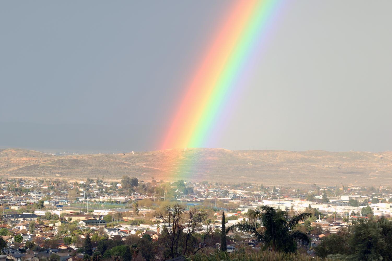 Rainbow over Taft High 3/22/18.