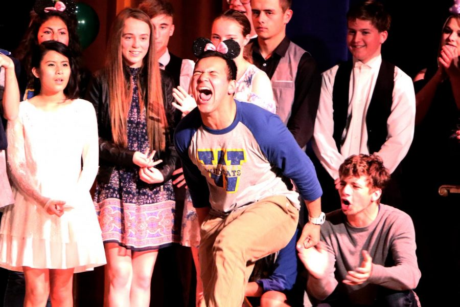 Jacob Gonzales had the most animated reaction when his video won 2nd place to the Jazz Band members' performance.