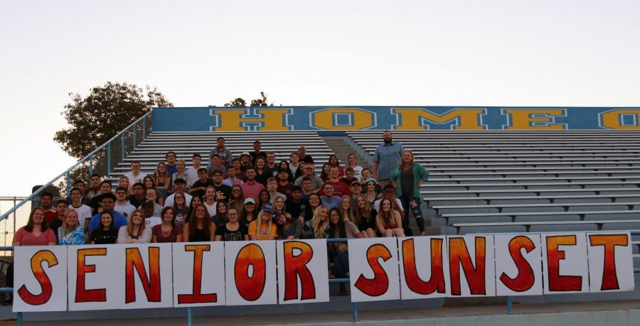Seniors+participated+in+Senior+Sunset+on+June+1+with+advisers+Josh+Tofte+and+Sarah+Hamblin.