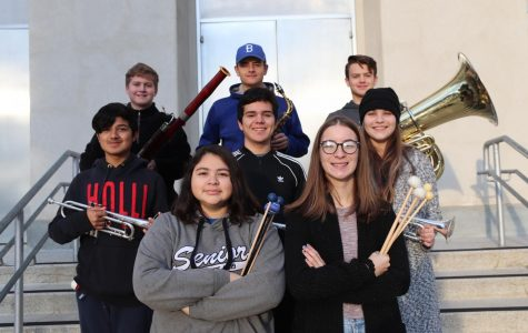 Eight students selected to perform in the Kern County Honor Band and Orchestra. Nathaniel Morris will be performing in the Honor Orchestra. Dennis Posey, Richard Posey, Martin Penaloza, Luis Moncada, Taylor Reed, Rebecca Cuevas, and Allyson Houghton will be performing in the Honor Band. Music intructor, Amanda Posey, said