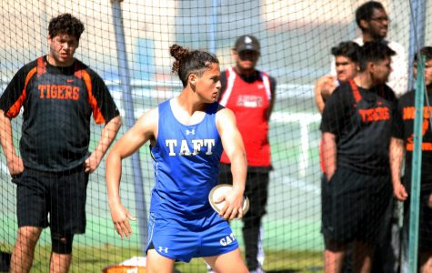 Katz prepares to launch the discus. His focus and intensity is part of his path to success as shown in this image.