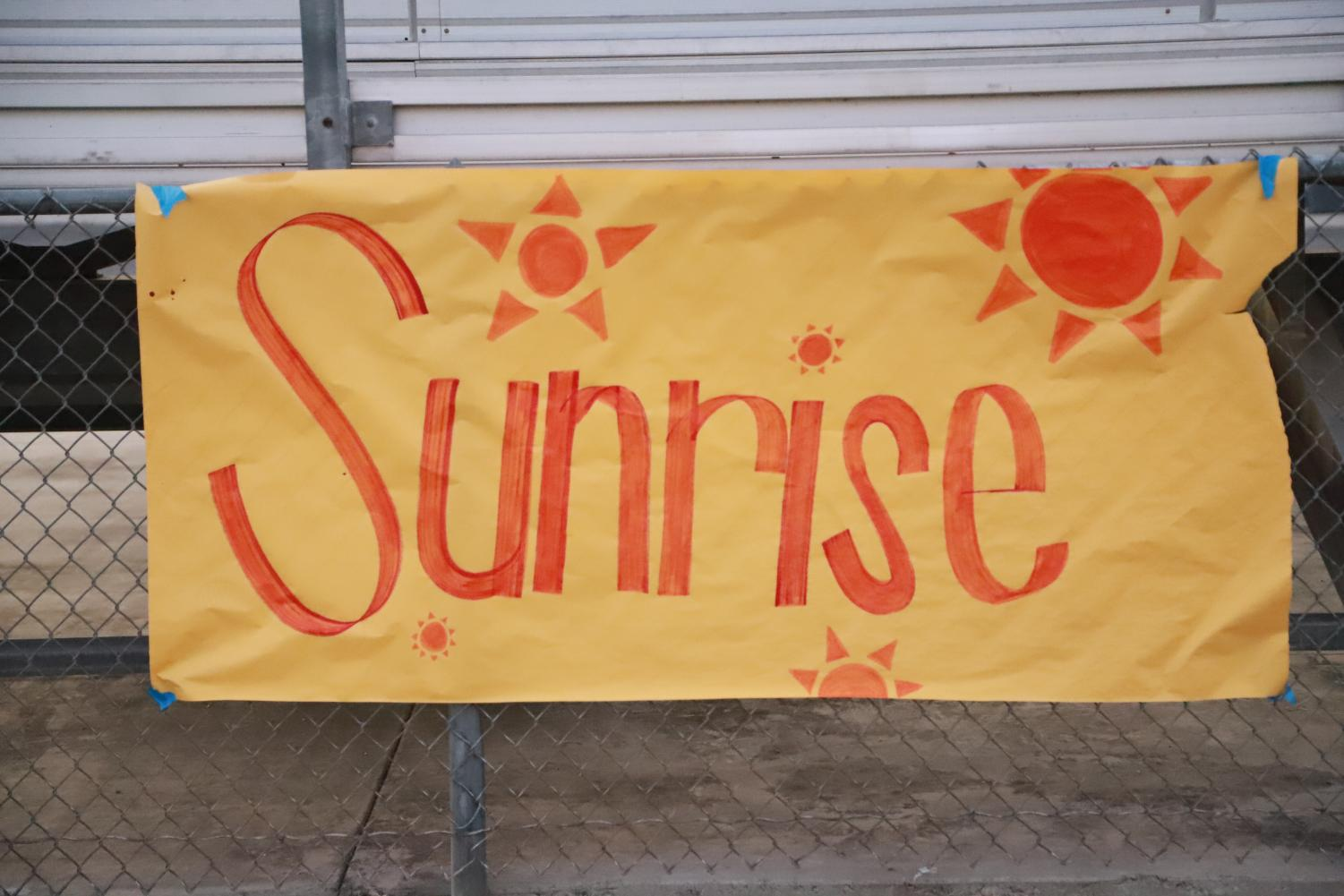 Senior Sunrise was the start of a year full of activities for seniors.