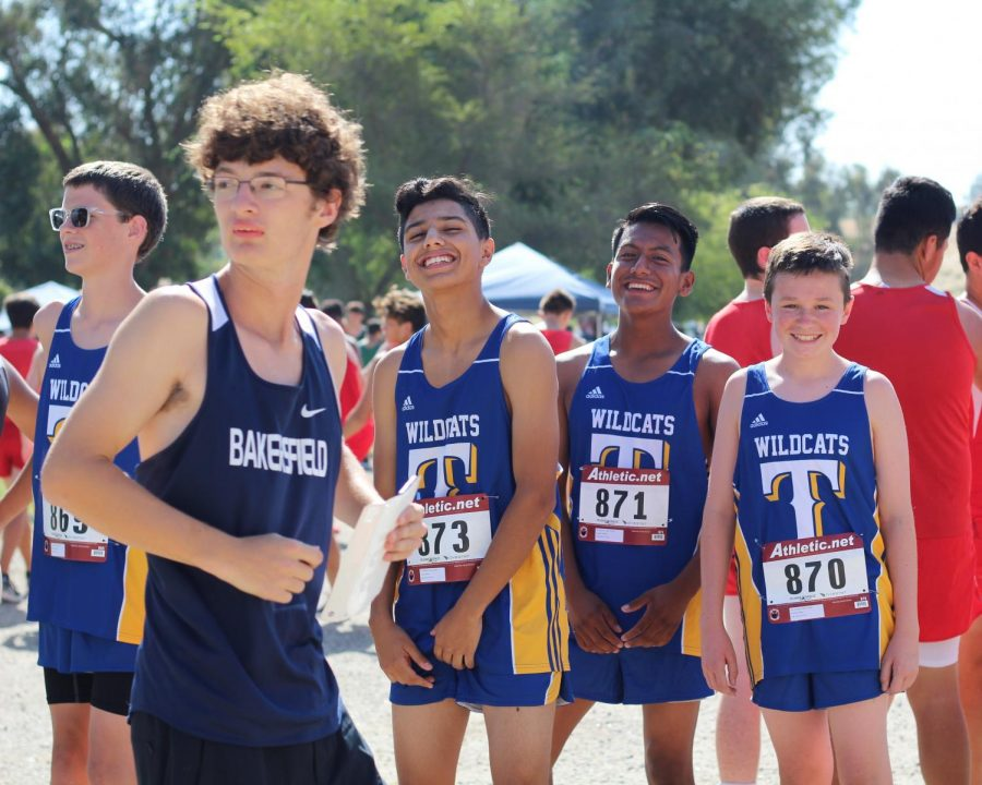 Our+Taft+High+JV+boys+getting+ready+for+their+2-mile+run+at+the+Lake+Ming+invitational.%0A