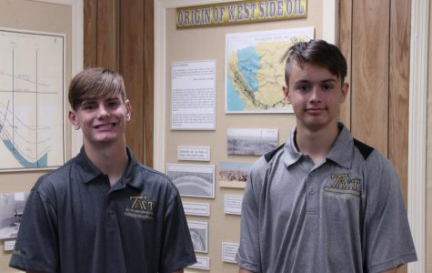 Topher Downey(Left) and Jadon Neher(Right) pose for a quick photo.