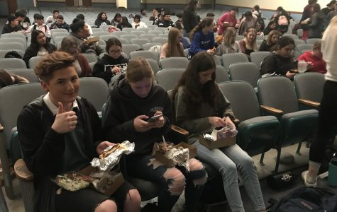 Jeb Burke and the rest of the seniors had lunch together in the auditorium. The shelter call was made during the senior class meeting.