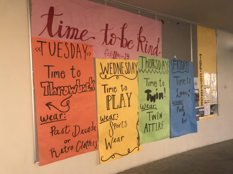 Human Element Students prepared for Kindness Week at Taft High.