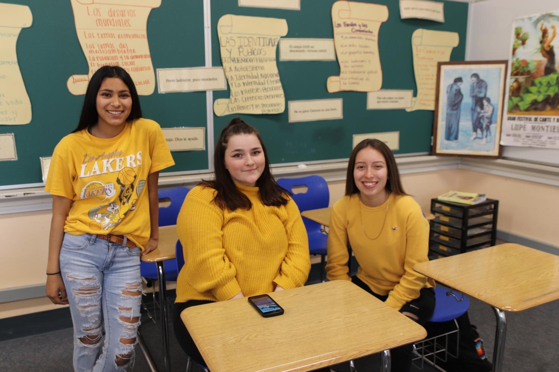 Lupita, Addison, and Deyanira dressed up for the tribute.