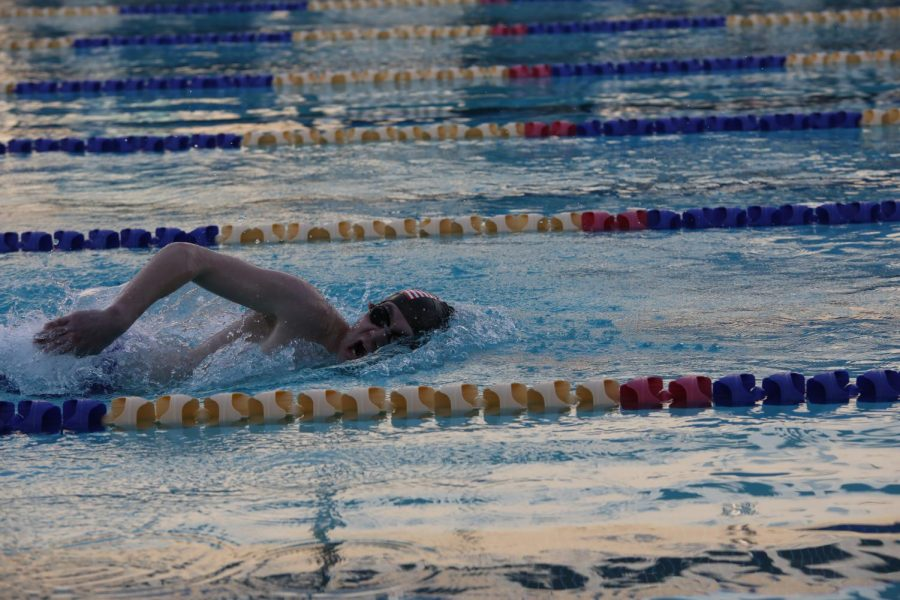 Jake Johnson during his swim event.