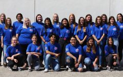 This is the 2019-2020 Yearbook Staff (taken first semester). They have worked hard and are excited to present this year's yearbook.