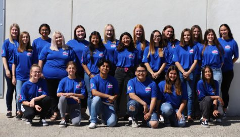 This is the 2019-2020 Yearbook Staff (taken first semester). They have worked hard and are excited to present this year