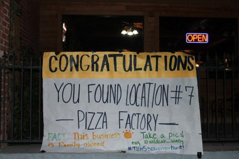Location #7 at the family-owned Pizza Factory in Taft. This spot was the answer to clue #8.
