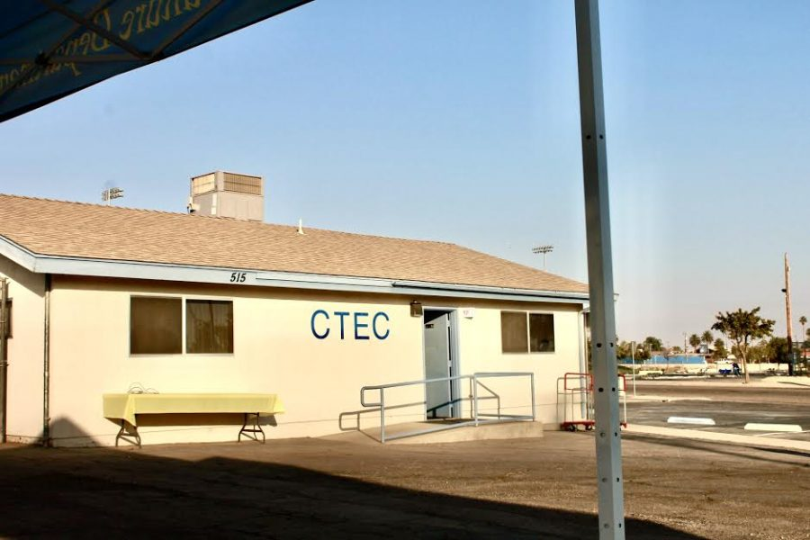 CTEC building where many classes take place normally.