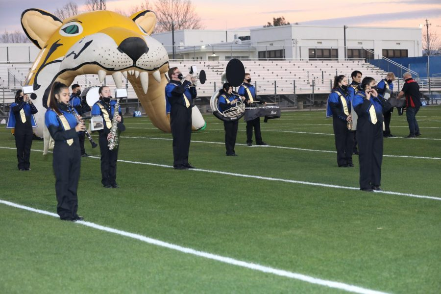 T.U.H.S band playing at senior night