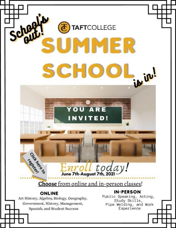 TUHSD summer school enrollment flyer
