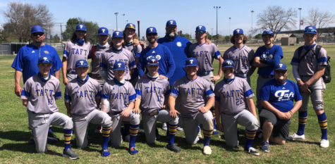 Out of the ball park: Varsity players after winning the Tulare-Visalia Pro PT Invitational Championship